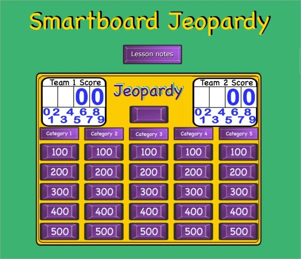 Powerpoint Quiz Template Free – Sample Jeopardy Powerpoint