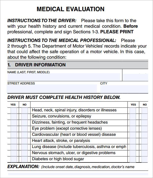 Medical Evaluation - 6 Free Download for PDF