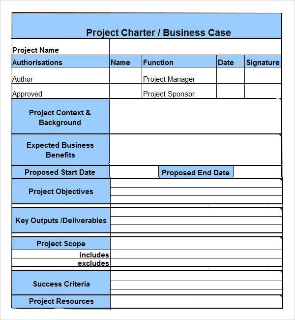 project-charter-Examplejpg 390×422 pixels Project Management - free project planner template