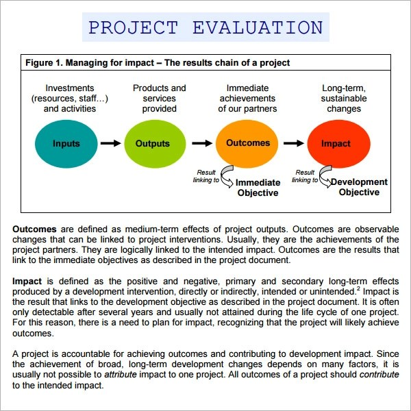 9 Sample Project Evaluation Templates to Download Sample Templates - project evaluation