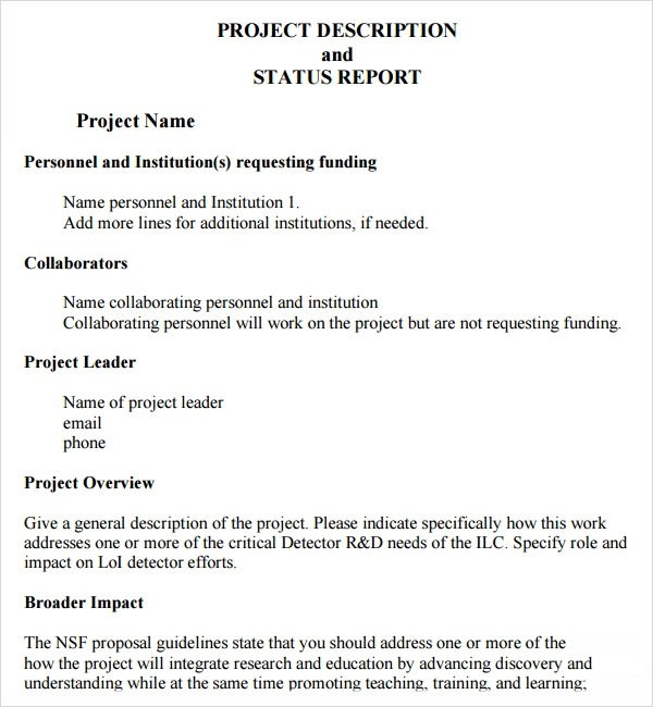 Project Status Report Template - 14+ Download Free Documents in PDF
