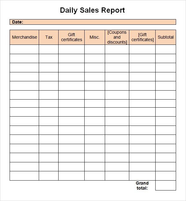 Sales Report Template. Sales Call Plan Template Sales Plan ...