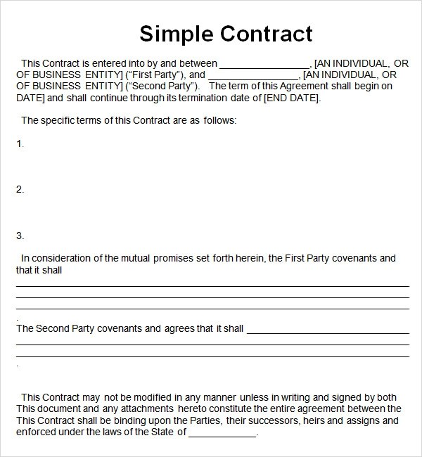 Contract Between Two Parties For A Loan – Agreement Contract Sample Between Two Parties