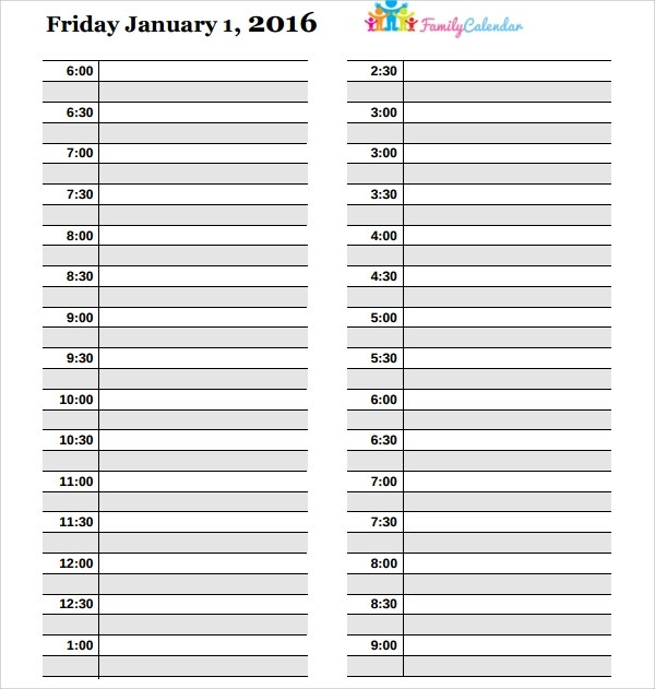 10+ Sample Daily Calendar Templates Sample Templates - daily calendar template