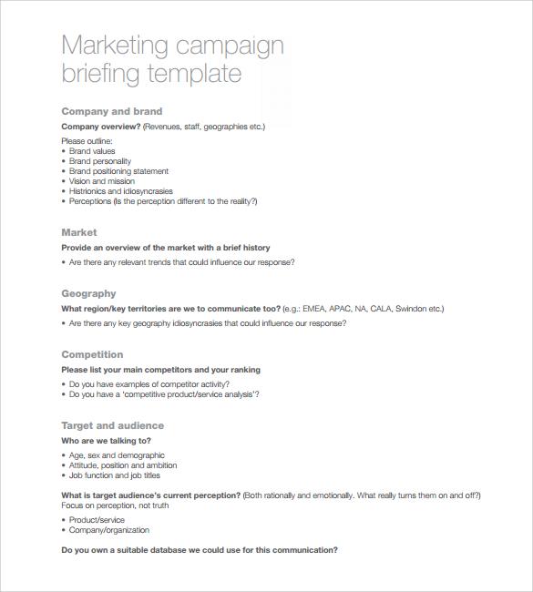 9+ Sample Marketing Campaign Templates Sample Templates - sample marketing campaign