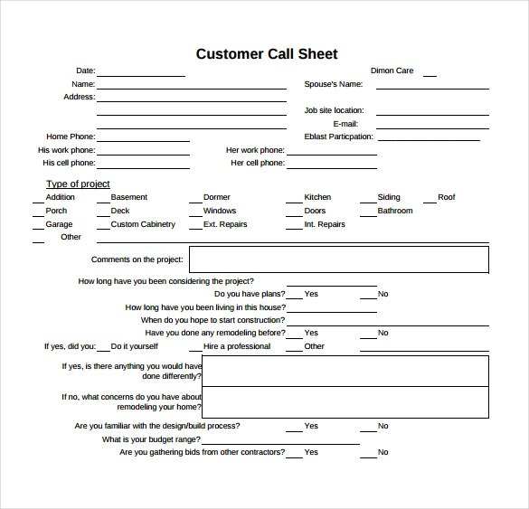 12 Sample Call Sheet Template to Download Sample Templates - phone sheet template