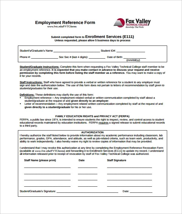 5+ Employment Authorization Forms Sample Templates - Work Authorization Form