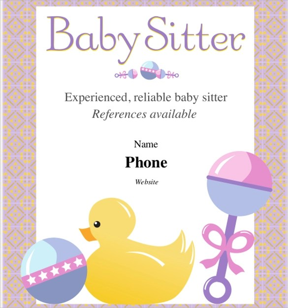11+ Babysitting Flyers Sample Templates