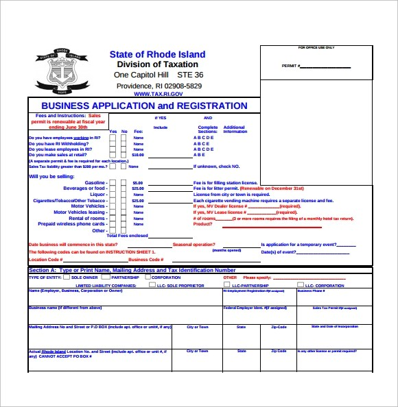 8+ Business Application Forms Sample Templates - business application form