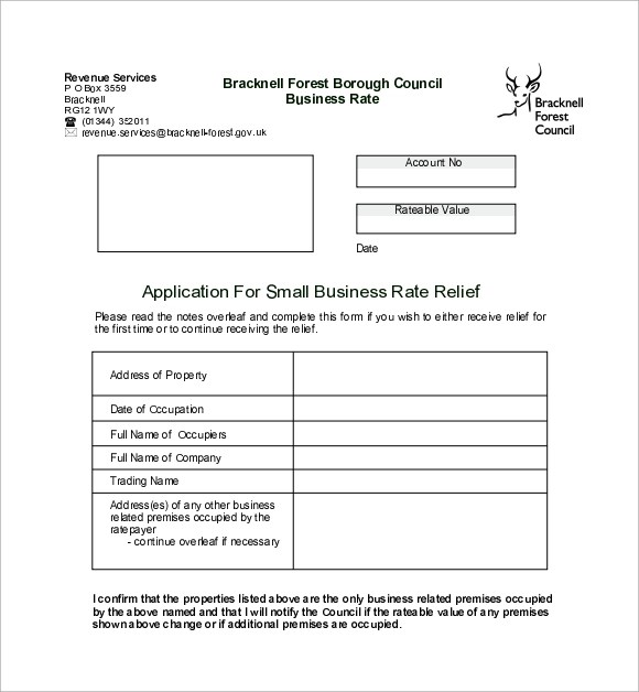 small business application form - Ozilalmanoof - business application form