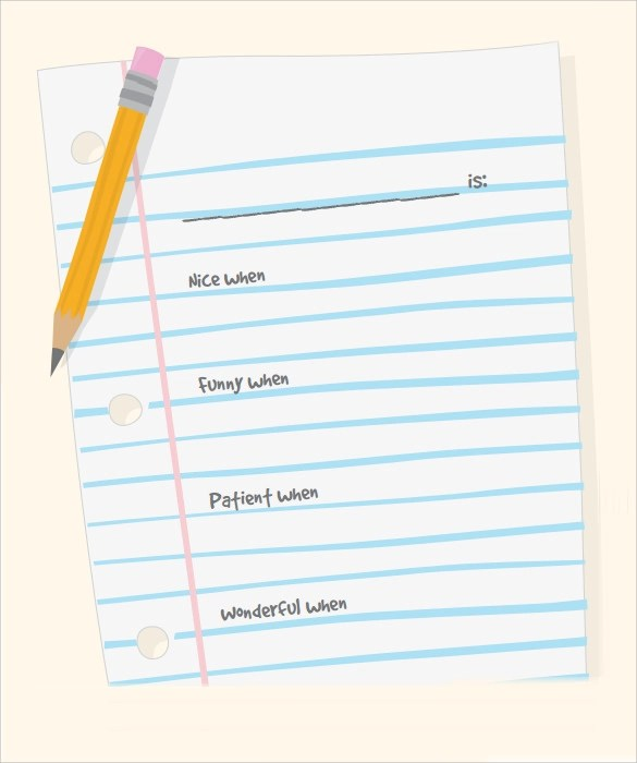 10 Sample Notebook Paper Templates to Download for Free Sample - stationery for word documents