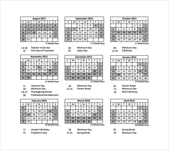 Sample Preschool Calendar Sample Calendar NormaS Kiddie Preschool - sample planning calendar
