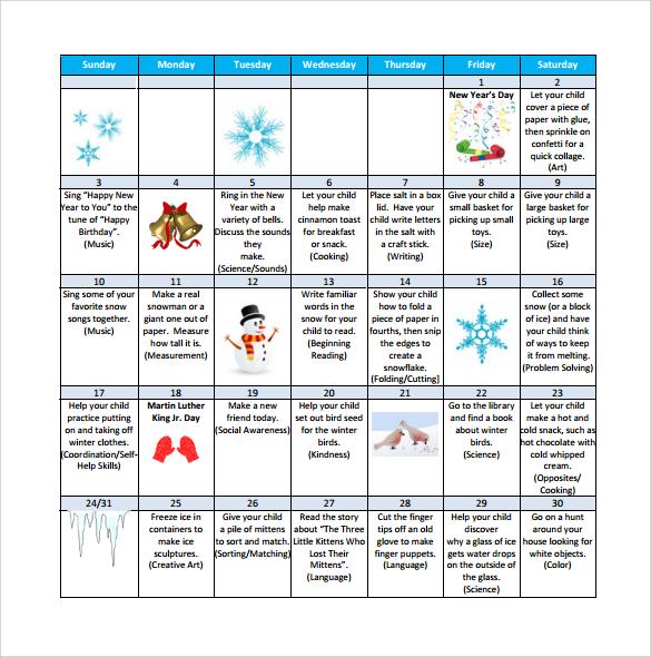 Preschool Calendar Template great-printable-calendars - preschool calendar template