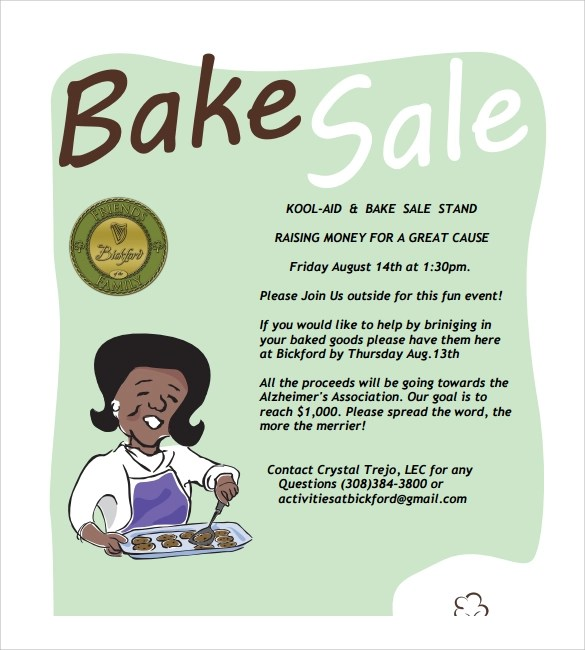 21+ Bake Sale Flyers Templates - Publisher, PSD, Ms Word