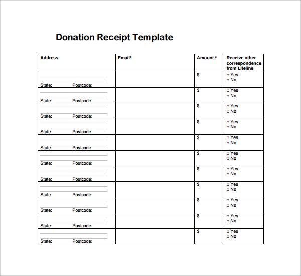 26+ Receipt Templates Sample Templates