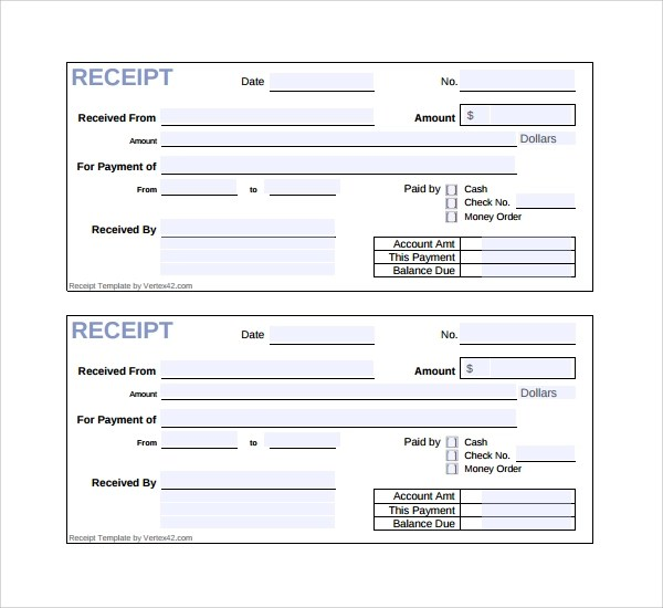 Sample Receipt Template - 16+ Free Documents In Pdf, Word, Excel