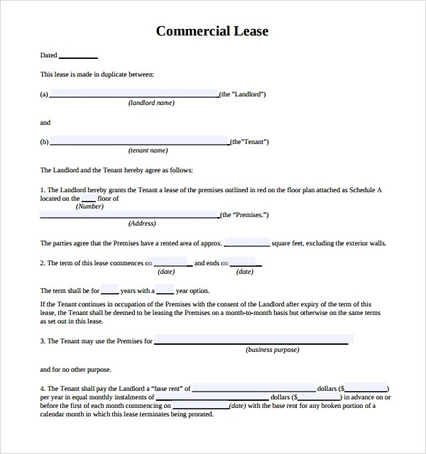 Doc#740979 Business Lease Agreement Sample u2013 13 Commercial Lease - sample commercial lease agreement