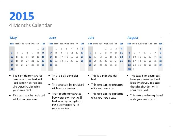 9+ Power Point Calendar Templates \u2013 Samples, Examples  Format - sample power point calendar
