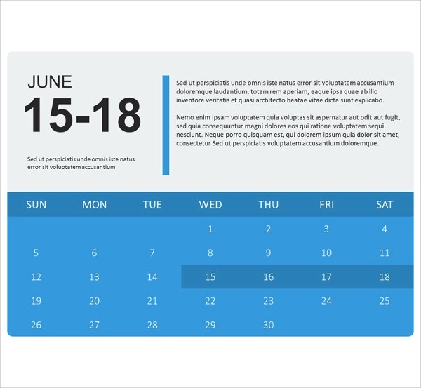 8+ Sample PowerPoint Calendar Templates Sample Templates - sample power point calendar