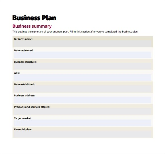 Financial Plan Template For Small Business \u2013 financial plan template - financial plan template word