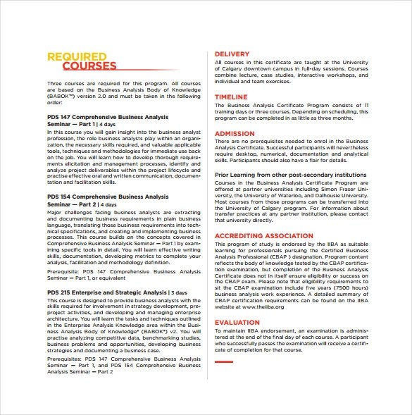 11 Sample Certificate of Analysis Templates to Download Sample - business analysis templates free
