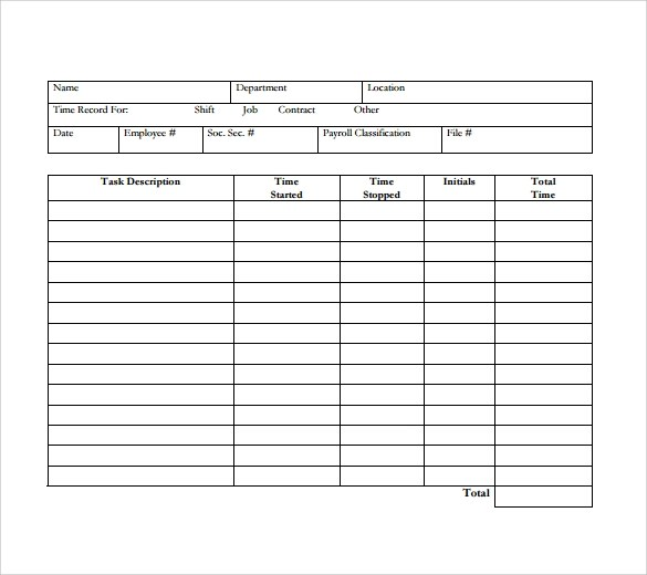 15 Sample Daily Timesheet Templates to Download Sample Templates - free timesheet forms