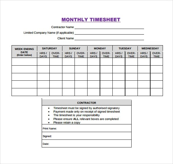 Time Sheet Office Templates Monthly Timesheet Template 15 Download Free Documents