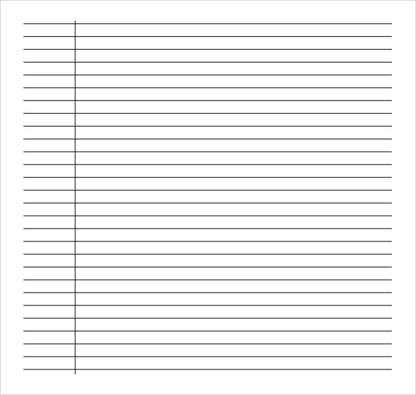 10+ Sample College Ruled Paper Templates Sample Templates - line paper template