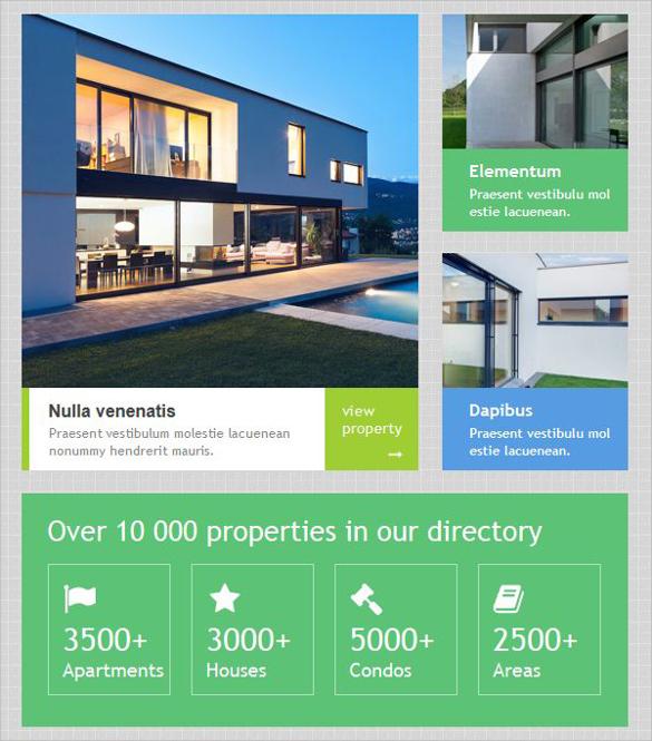 Sample Real Estate Newsletter Template - 9+ Download in PSD, In Design