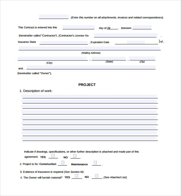 Sample Construction Work Order Form - 5+ Free Documents in PDF - free work order form