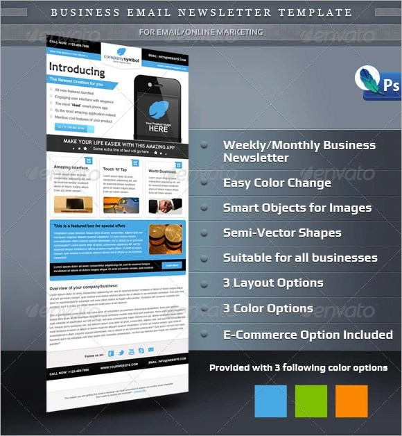 Sample Business Email Template - 6+ Download In PSD
