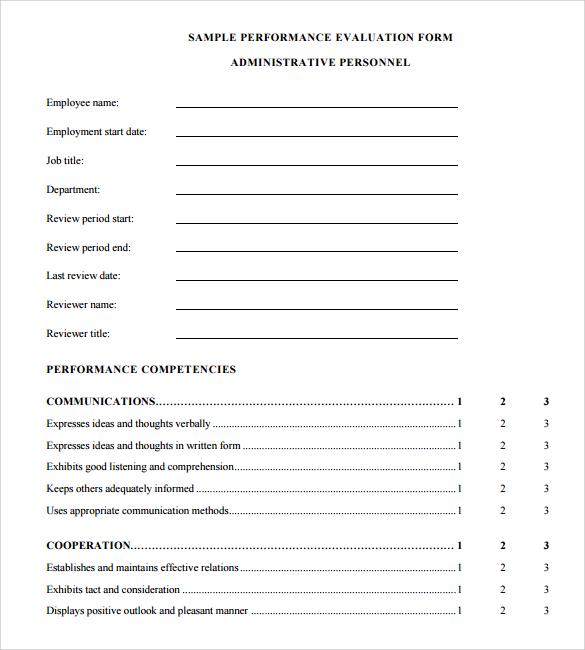 employee appraisal templates