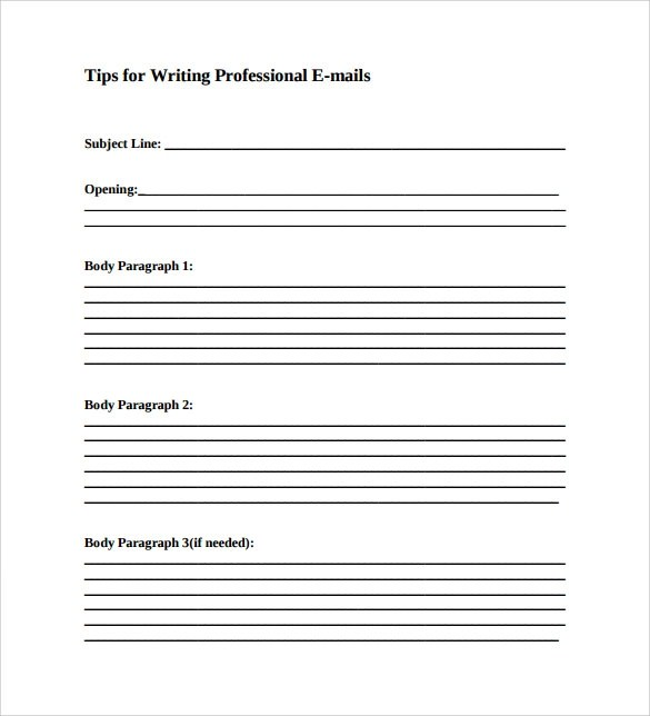 Professional Email Template - 7+ Download Free Documents in PDF - business email template