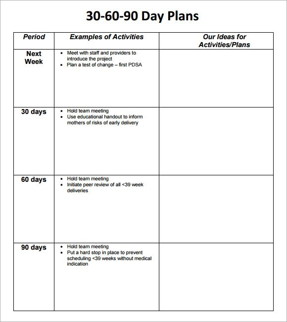 60 day plan template - 28 images - 30 60 90 day plan 7 documents - 30 60 90 day action plan template