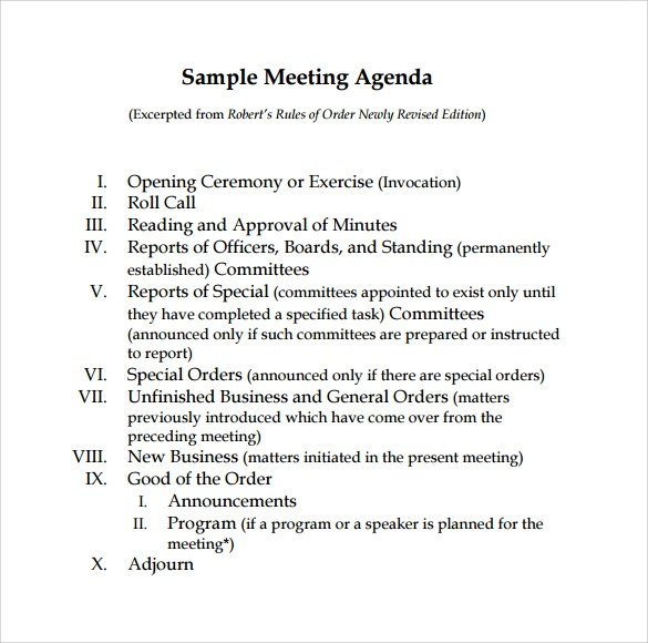 Board Meeting Agenda Template Uk | Business Proposal Ppt Free Download