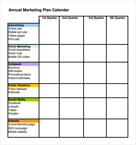 6+ Marketing Schedule Templates Sample Templates