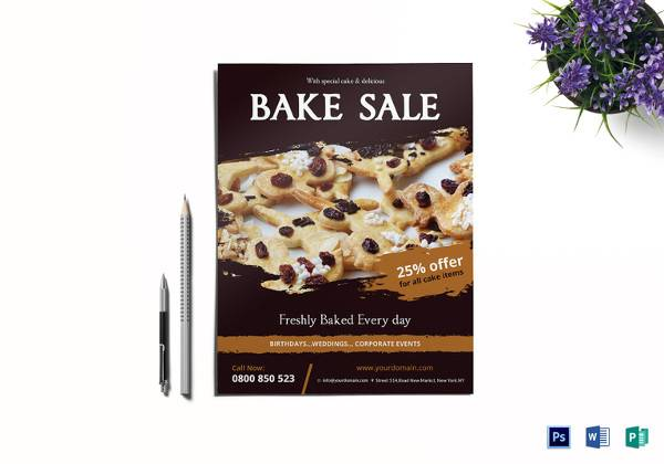 17+ Bake Sale Flyers Sample Templates - bake sale flyer template microsoft