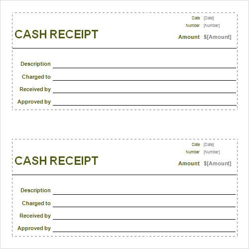 blank restaurant receipt template