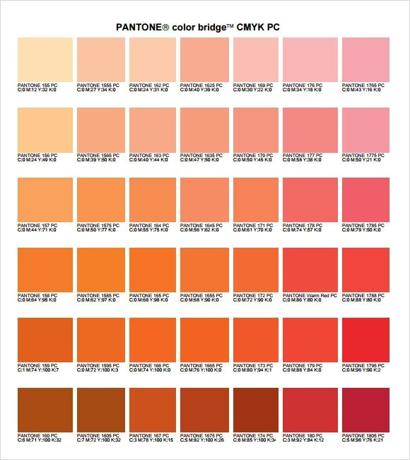 Images of Pantone Color Chart Cmyk - #SpaceHero