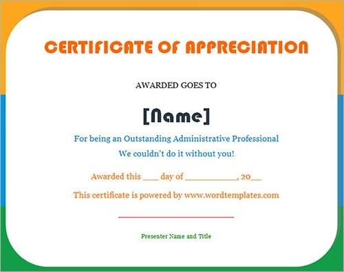 Certificate Template - Download Free Documents In Pdf, Word