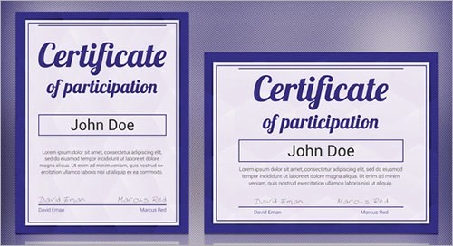 certificate of participation template free certificate of