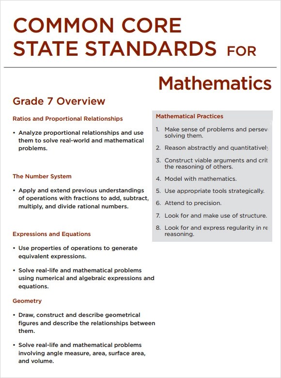 7 Sample Common Core Lesson Plan Templates to Download Sample