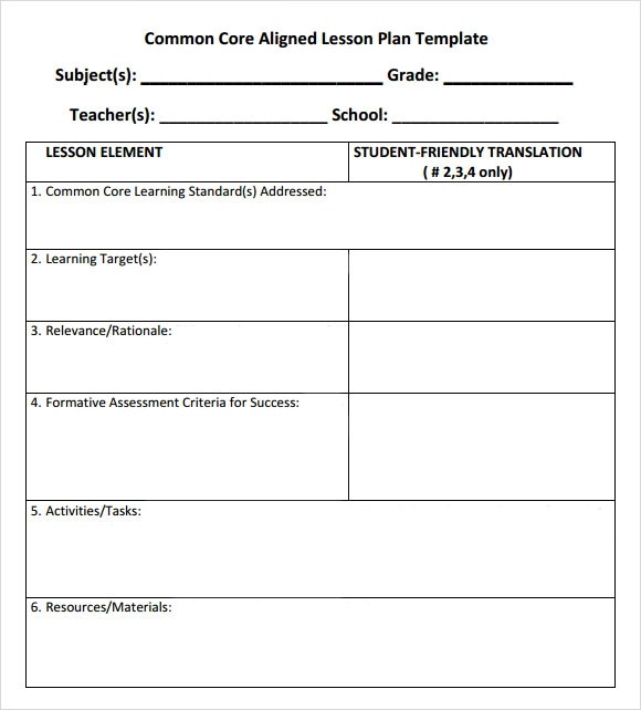 Lesson Plan Sample In Word Lesson Plan Format Template In Ms Word - sample blank lesson plan template