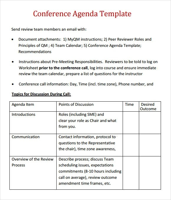 meeting overview template