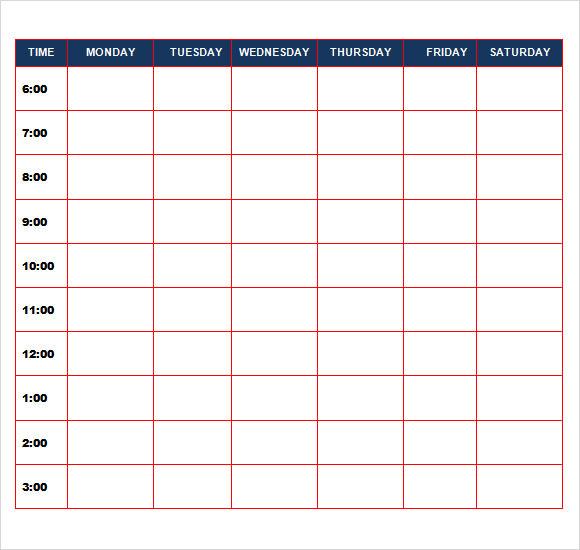 task calendar template