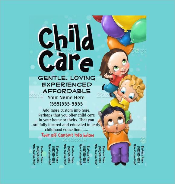 8+ Day Care Flyers - PSD - daycare flyer