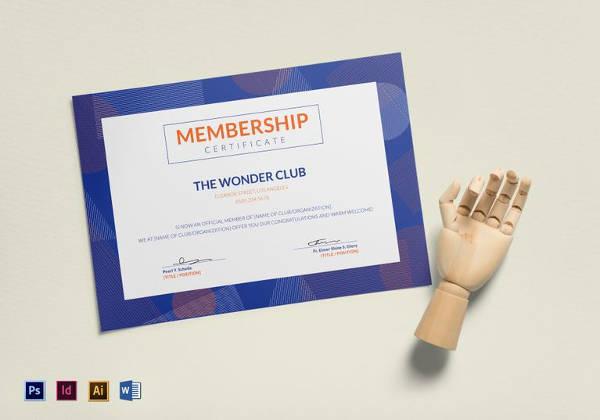 13+ Sample Membership Certificate Templates Sample Templates - membership certificate template