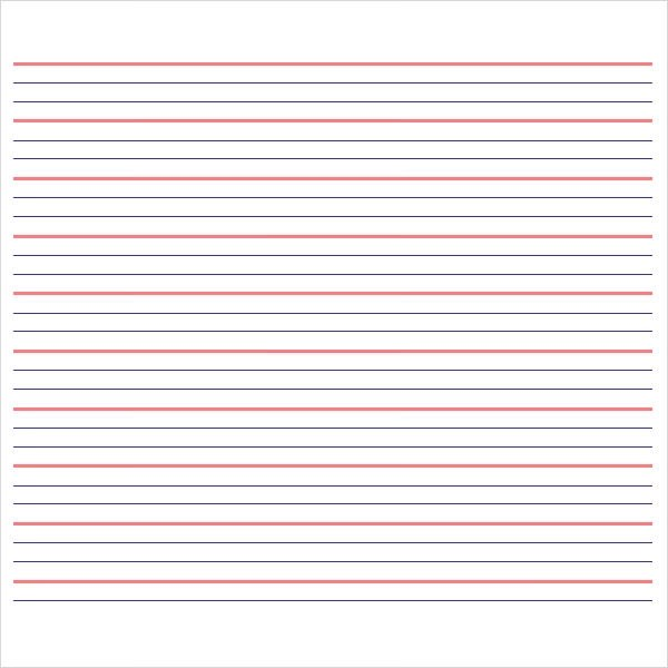 10 Sample Notebook Paper Templates to Download for Free Sample - Notebook Paper Template