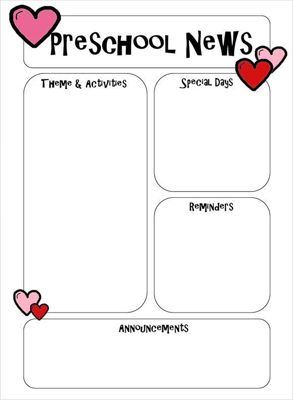 Sample Preschool Newsletter - 5+ Free Download for Word, PDF