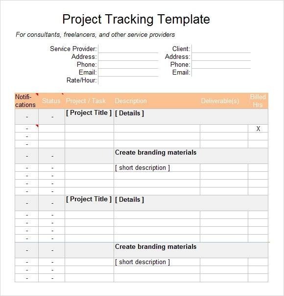 Sample Excel Tracking - 7+ Documents in Excel - project tracking template